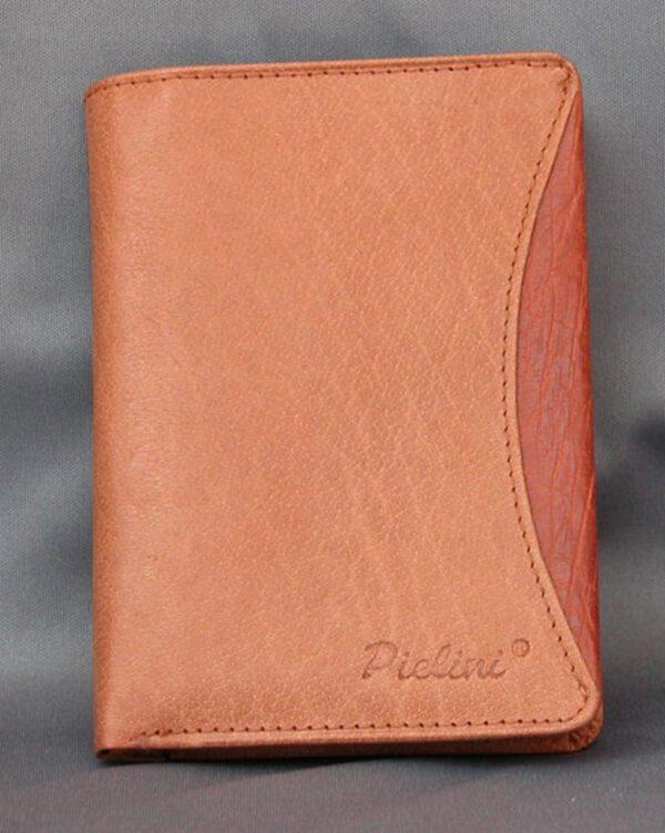 CARTERA HOMBRE CABALLERO de piel autentica color cuero - Billetera, Monedero y Tarjetero (Mod. 2035)